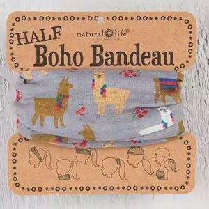 NWT Natural Life Llama Half Boho Bandeau